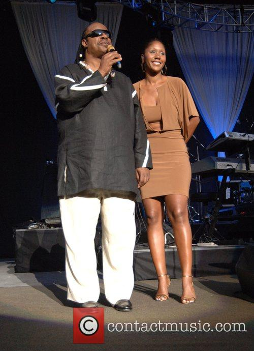 Stevie Wonder and Daughter Aisha Morris 7