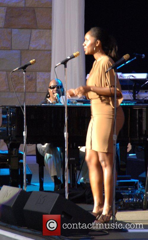 Stevie Wonder and Daughter Aisha Morris 5