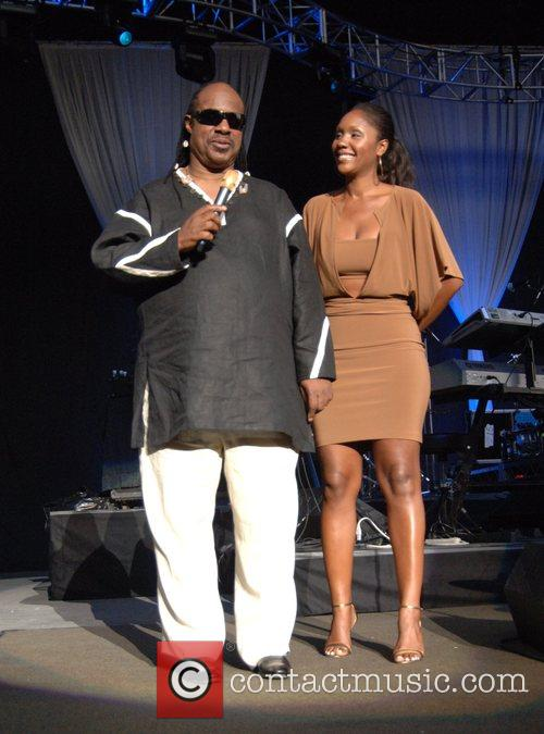 Stevie Wonder and Daughter Aisha Morris 1