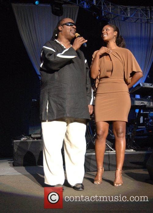 Stevie Wonder and Daughter Aisha Morris 9