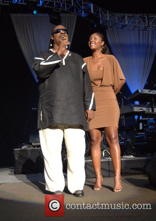 Stevie Wonder and Daughter Aisha Morris 6