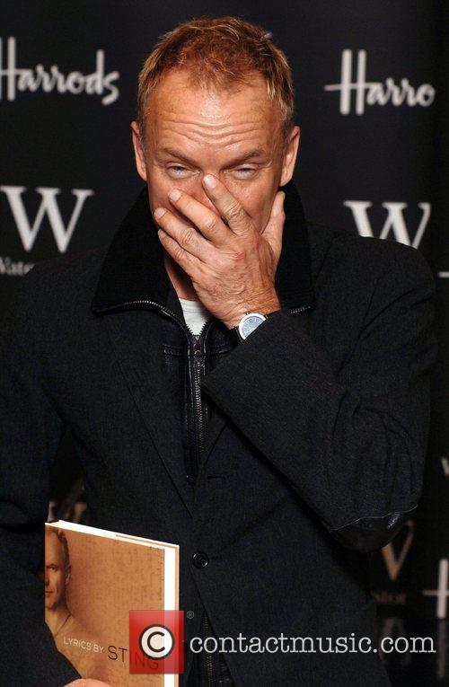 Sting  Book signing of 'Lyrics' at Waterstone's...