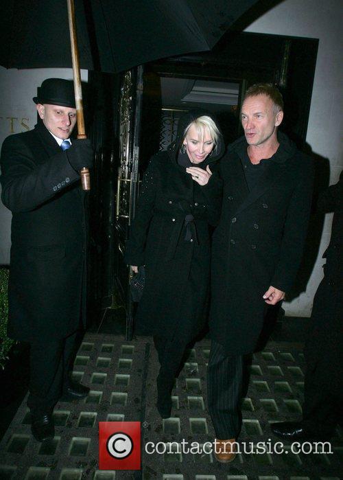 Leaving Scotts restaurant in Mayfair