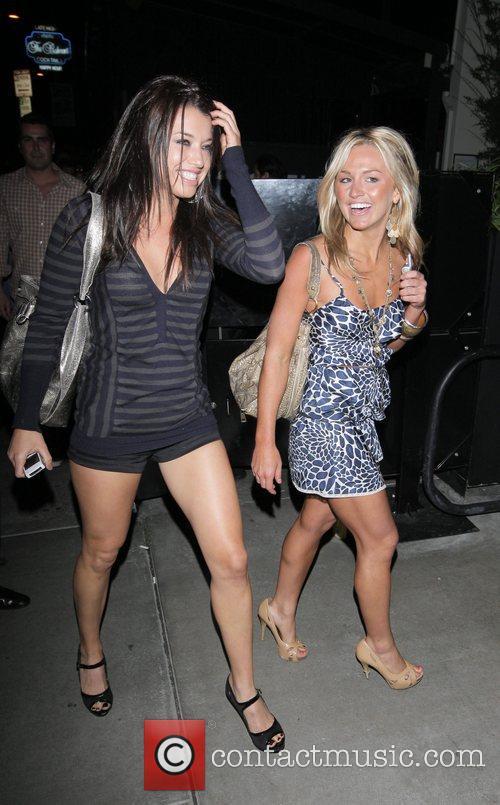Lauren Bergfeld and friend arrives at STK restaurant...