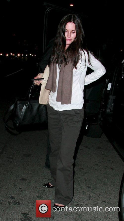 Courteney Cox arriving at STK restaurant Los Angeles,...