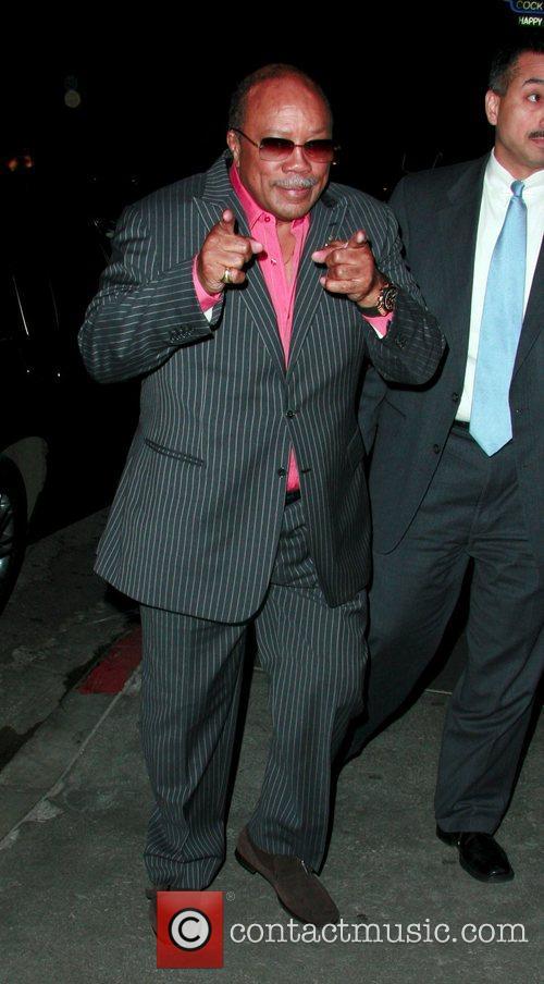 Quincy Jones arriving at STK restaurant Los Angeles,...