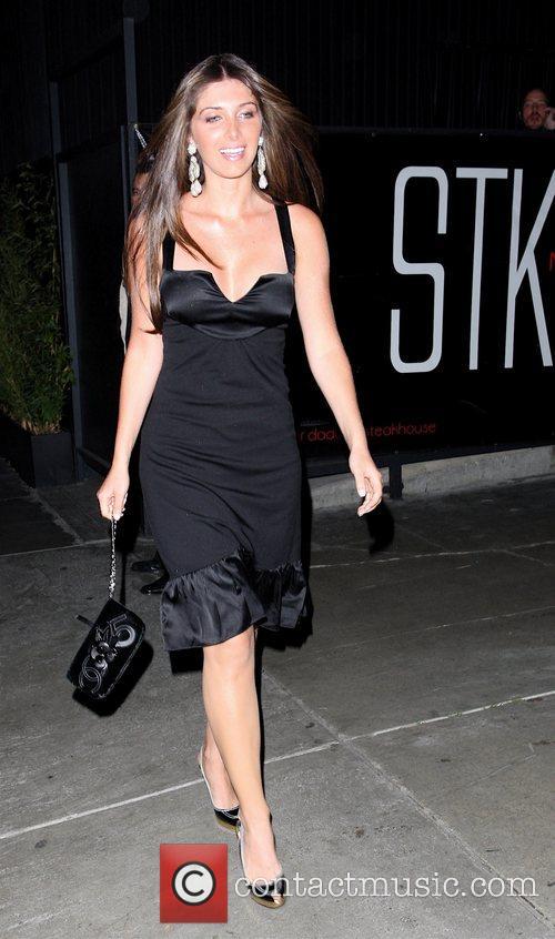 Brittny Gastineau leaving STK restaurant Hollywood, California