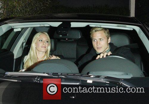 Heidi Montag and Spencer Pratt leaving STK restaurant...