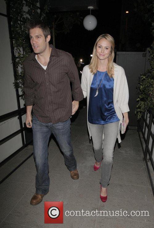 Stacy Keibler and guest STK Steakhouse Opening on...