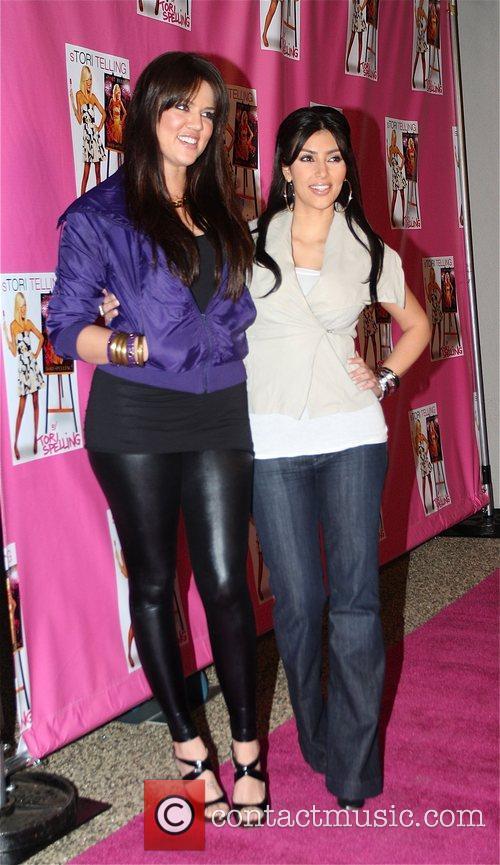 Khloe Kardashian and Kim Kardashian Launch of Tori...