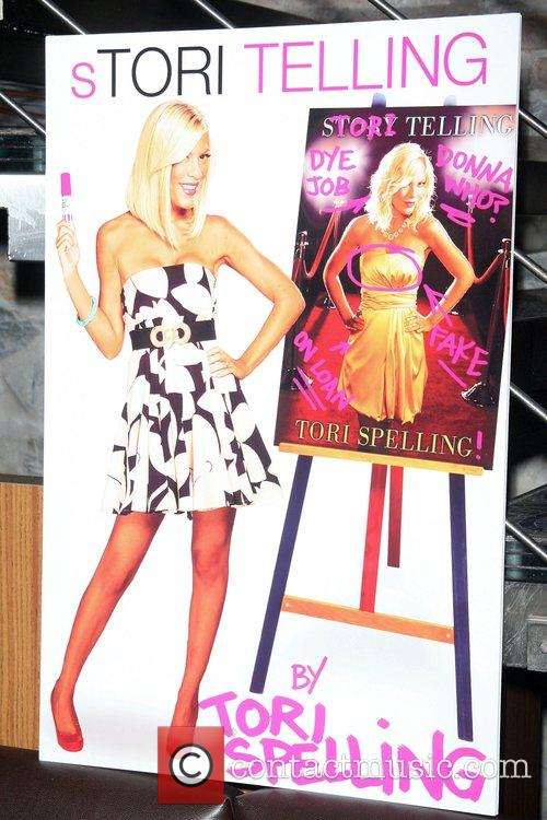 Book release party for Tori Spelling's new biography...