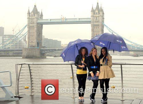 Amelle Berrabah, Heidi Range and Keisha Buchanan from...