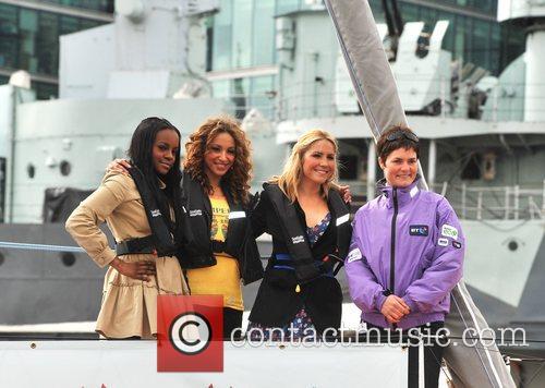 Sugababes and Dame Ellen MacArthur Sugababes on the...