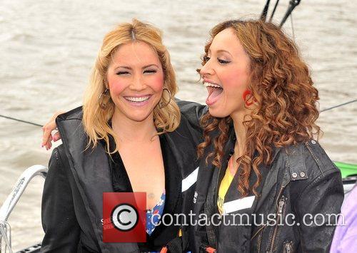 Heidi Range and Amelle Berrabah Sugababes on the...
