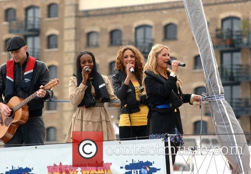 Sugababes on the Thames - photocall held at...