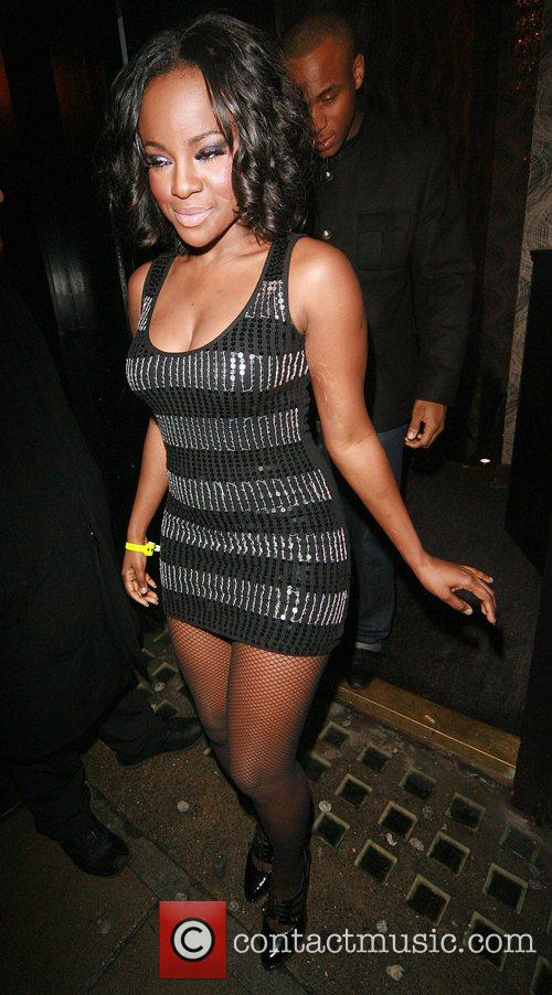 Leaving the Sugababes aftershow party held at Kensington...