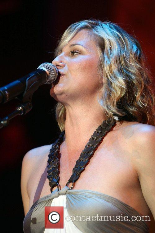 Jennifer Nettles Sugarland perform at the Fremont Street...