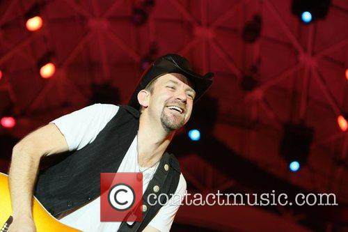 Sugarland perform at the Fremont Street experience