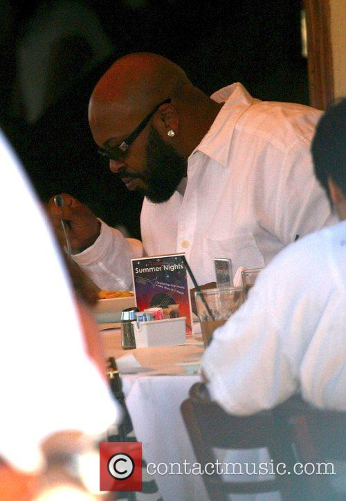 Marion 'Suge' Knight lunching in Sunset. He is...