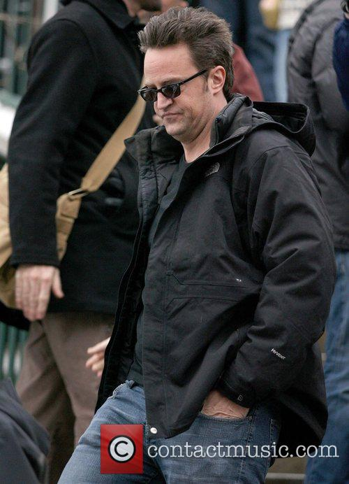 Matthew Perry leaving the Town Lift During the...