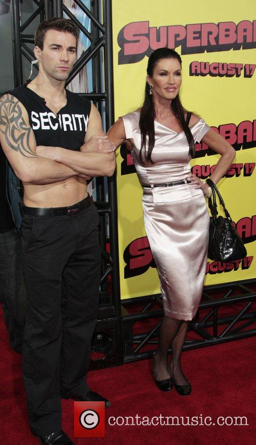 Janice Dickinson and Security Guard Premiere of 'superbad',...