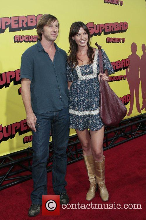 Jake Weber and Wife Premiere of 'superbad', held...
