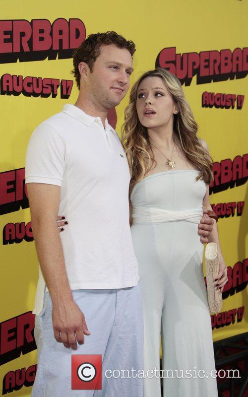 Devon Gummersall and Majandra Delfino Premiere of 'superbad',...