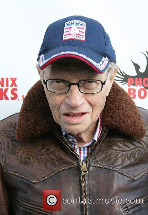 Larry King attends the 'Superbowl Bash' at Spago...