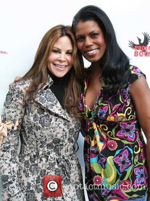 Nely Galan and Omarosa attend the 'Superbowl Bash'...