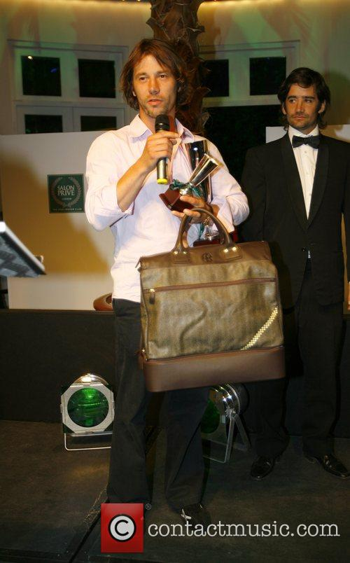 Jay Kay receives an award Salon Prive private...
