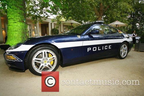 Ferrari police car Salon Prive private luxury and...