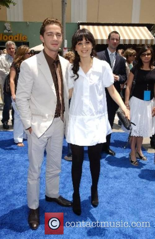 Shia LaBeouf and Zooey Deschanel Premiere of
