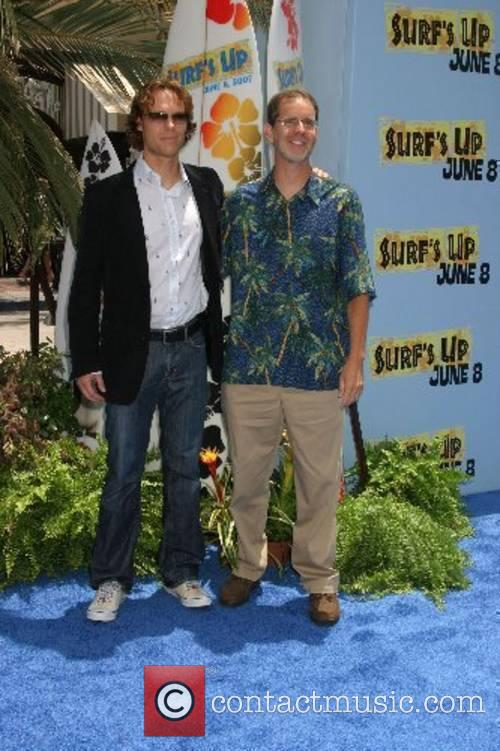 Ash Brannon and Chris Buck Premiere of 'Surfs...