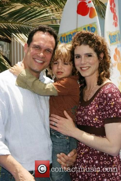 Diedrich Bader and family Premiere of 'Surfs Up'...