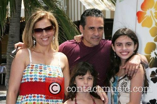 Maurice Benard and family Premiere of 'Surfs Up'...