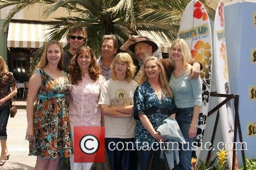Beau Bridges and Jeff Bridges with their families...