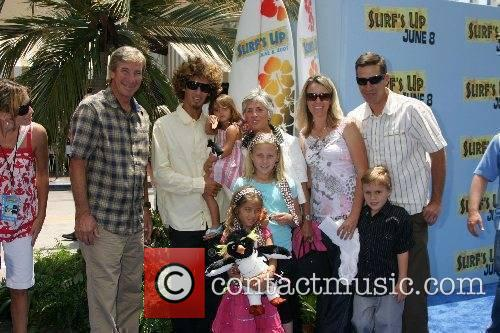 Rob Machado and family Premiere of 'Surfs Up'...