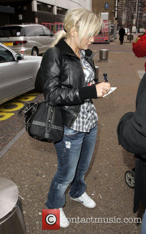 'Dancing on Ice 2008' winner Suzanne Shaw outside...