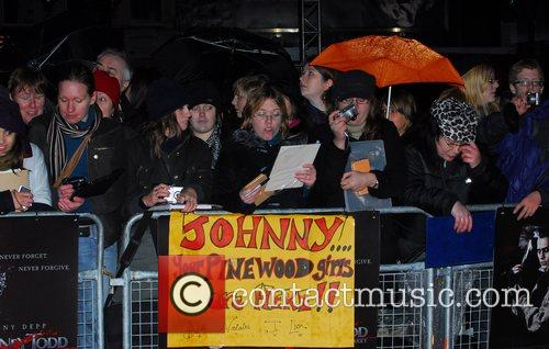 Fans UK premiere of 'Sweeney Todd' held at...