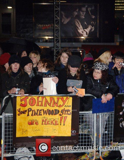 UK premiere of 'Sweeney Todd' held at the...