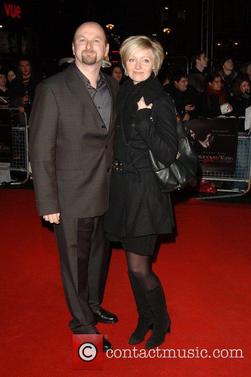 Guests UK premiere of 'Sweeney Todd' held at...