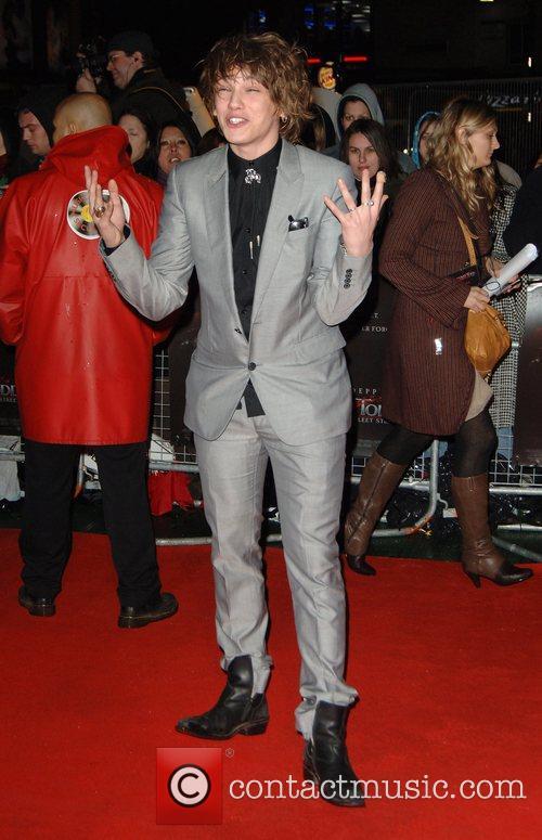 Jamie Campbell UK premiere of 'Sweeney Todd' held...