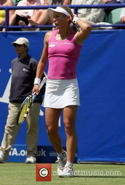 Was beaten by Nadia Petrova in three sets...