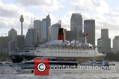 The QE2 makes her last visit to Sydney,...