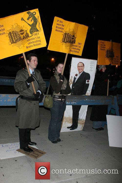 Protesters, Anti Bruce Ratner Brooklyn Museum & Louis...