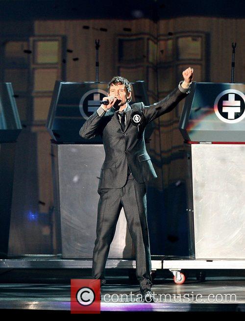 Jason Orange Take That performing in concert at...