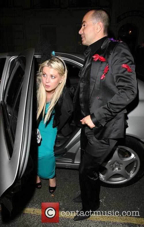 Tara Reid and Julien MacDonald arriving at Automat...