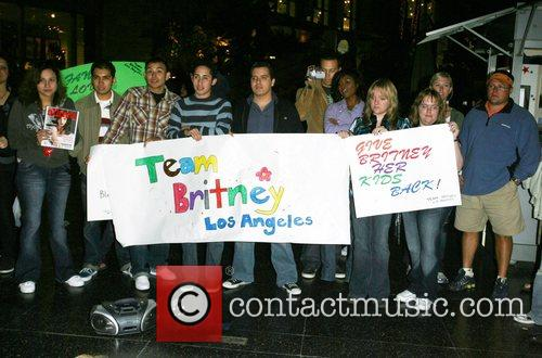 Team Britney Protesters convened at the 'Britney Spears...