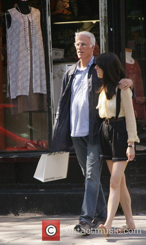 Ted Danson with daughter Kate Danson walking in...