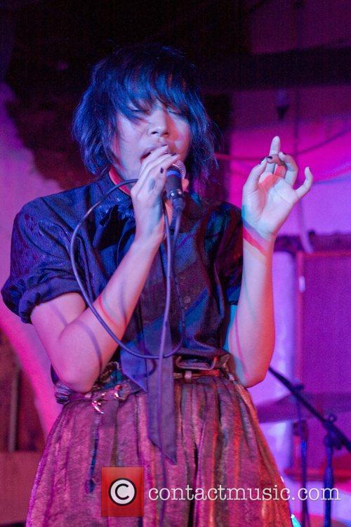 Samantha Lim of Australian band Teenagersintokyo performing at...